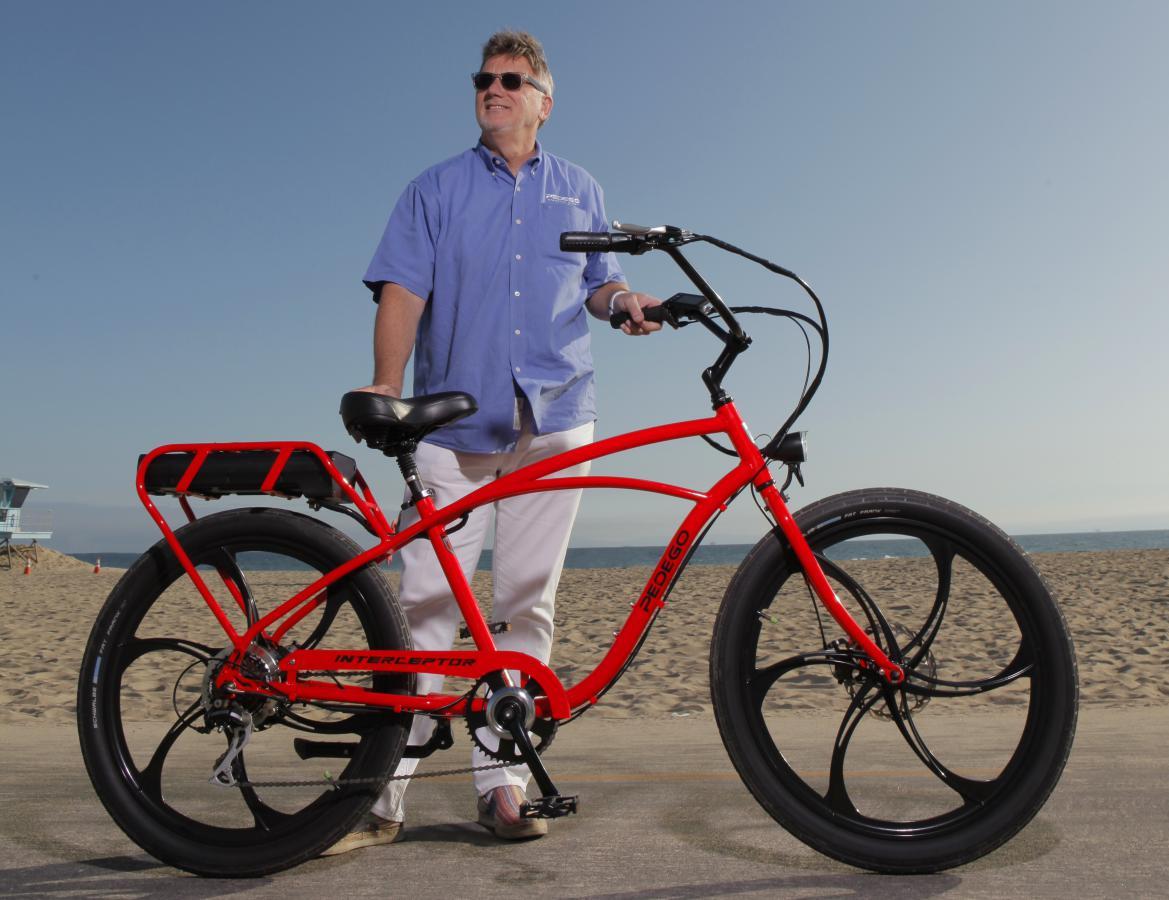 Don DiCostanzo CEO Pedego with Interceptor bike